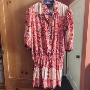 Angie's Boho Tunic Multi Colored, Embellished Neck